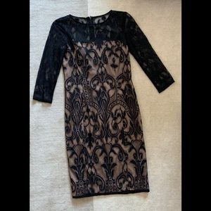 Black Lace Dress, Adrianna Papell